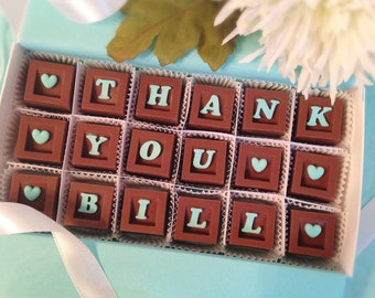 Thank You Chocolates - Chocolate Thank You - Appreciation Gift -