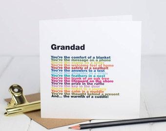 Card for Grandad - Card For Grandpa - Grandparents Card - Greetings Card