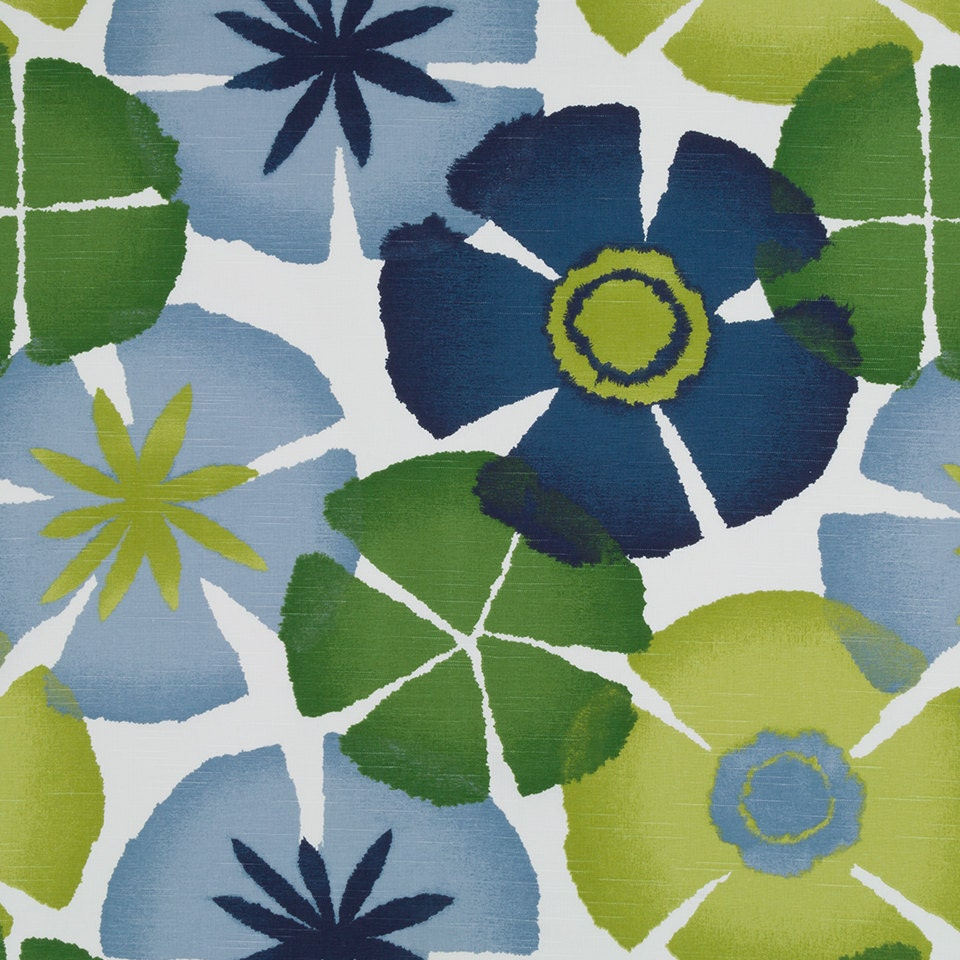 navy blue and green floral upholstery fabric lime green navy. Black Bedroom Furniture Sets. Home Design Ideas