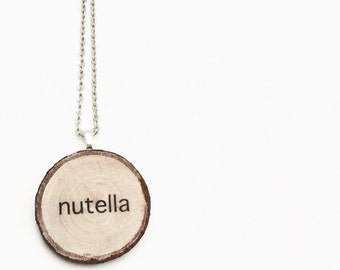 Nutella lovers Wood Necklace