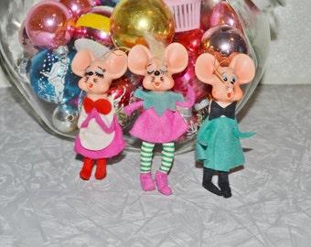 Vintage Mice Ornaments