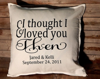 Custom Wedding lyrics Pillow Cover... Wedding gift... Anniversary gift.. First Dance