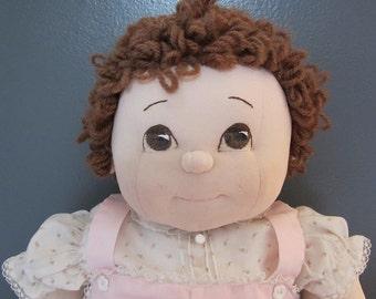 Vintage Handmade Soft Sculptured Baby Doll