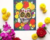 Día de Muertos Skull Print