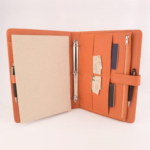 A4 Original Leather Ring Binder Planner / Organizer By