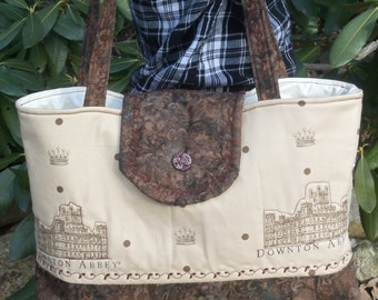 Beautiful Downton Abbey Purse, Downton Abbey Tote Bag, Weekend Bag,Beach Bag, Book Bag.Summer Bag.