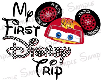My First Disney Trip Cars Lightning McQueen Mater Custom DIY Printable Iron On Transfer Disney