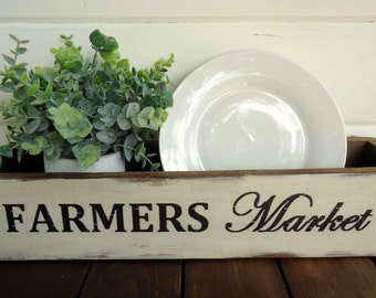 Country Rustic Vintage Aged Farmhouse Farmers Market Box