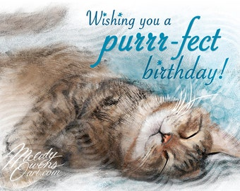The Purfect Birthday Card