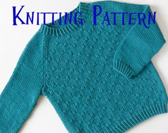 PDF Knitting Pattern Oatmeal Sweater Infant Pullover Baby