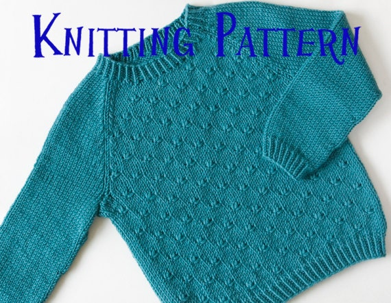 Toddler Jumper Knitting Pattern : PDF Knitting Pattern Little Heath Pullover Ages 1-10 years