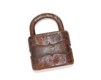 Vintage Padlock Made in Germany, German Padlock, German Locks, Old Padlocks Collectibles