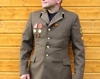 Halloween clothing Halloween costume jacket Military jacket Soviet army coat 1976 Russian army clothing Army jacket