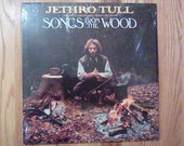 Vintage Jethro Tull Songs From the Wood Vinyl Record Album 1977 British Hard Progressive Flute Folk Rock