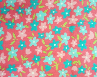 Flowers on Hot Pink by Texollini Fabrics