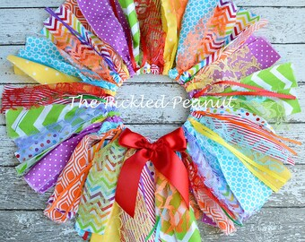 Rainbow Tutu Rainbow Skirt Rainbow Birthday Baby Girl Rainbow Birthday 1st Birthday Rainbow Baby Outfit Rainbow Cake Smash Fabric Tutu Baby