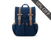 CityKid Anti-Lost Kids Backpack / Canvas Backpack / Kids Bag / Blue
