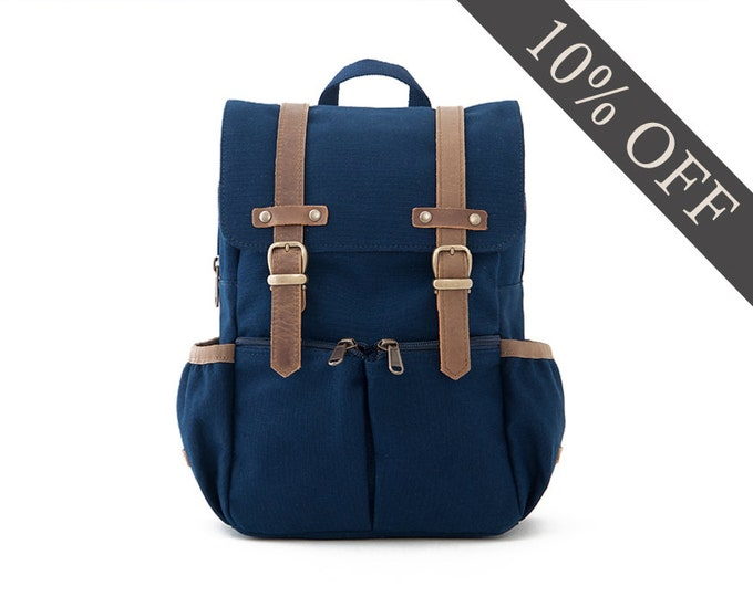Kids Backpack / Canvas Backpack / Kids Bag / School Backpack / Anti-Lost / Blue Canvas / CITYKID