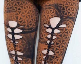 Flower of life braided leggings