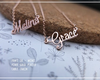 Custom Name Necklace-Personalized Name Necklace-Custom Name Gift-Your Name Necklace-Bridesmaids-Children Names-Tiny-Mini necklace. #MNF10