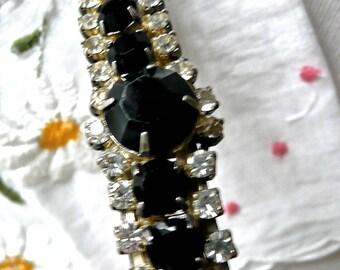 Vintage Hair Barrette - Rhinestone Decorated Beret - Sparkling Hair Clip - Wedding Hair Accessory - Avant Garde Hair Clip - Hair Decoration