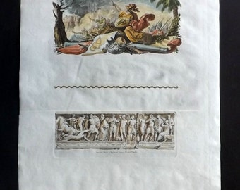 Choiseul Gouffier 1842 HC Print. Symbol of Liberty & Ephesus Relief, Turkey