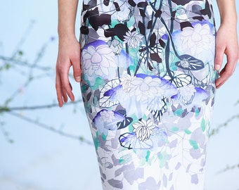 Water Reflections - pencil skirt