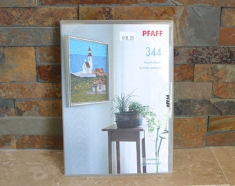 Pfaff 344 Beautiful Places creative smart card - Pfaff lighthouses embroidery card - Pfaff sewing - machine embroidery design