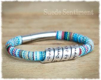 Womens Message Bracelet • Best Friend Gift • Boho Bracelet • Personalized Bracelet