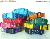 Sale 30% Off Bandana Dog Collar-Black, Pink, Red, Orange, Yellow, Green, Blue, Turquoise & Purple-NO EXTRA Charge for colored buckles