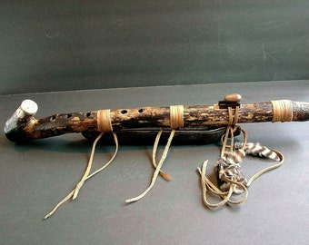 Native American Style Flute.Natural Sumac Tree branch.Key of F#
