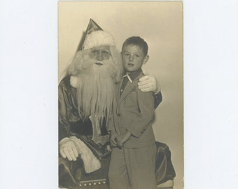 Department Store Santa, c1940s-50s, Vintage Photo (66473)