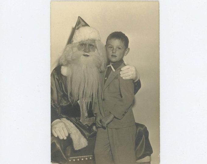 Department Store Santa, c1940s-50s, Vintage Photo (66473)