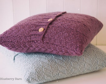 Knitting Pattern/DIY Instructions  - Beatrice Mock Cable Aran Cushion Cover