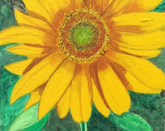 Summer Sunflower - Original Painting on Gallery Wrap Canvas - Last 3 days at this SALE price