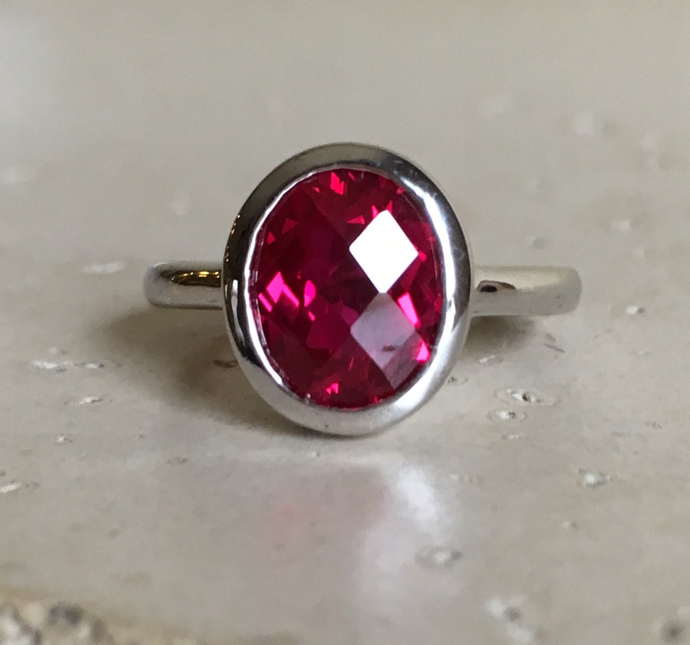 lab created ruby ring oval ruby ruby ring gemstone ring. Black Bedroom Furniture Sets. Home Design Ideas