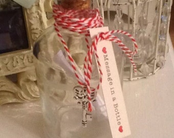 Message in a bottle, valentines/proposal/love gift
