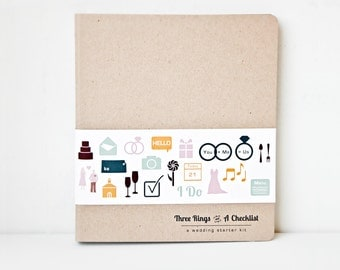 Wedding Planning Book - 3 Ring Wedding Planner Binder - Cute Wedding Planner - Engagement Gift - Gift For The Bride - Wedding Planning Help
