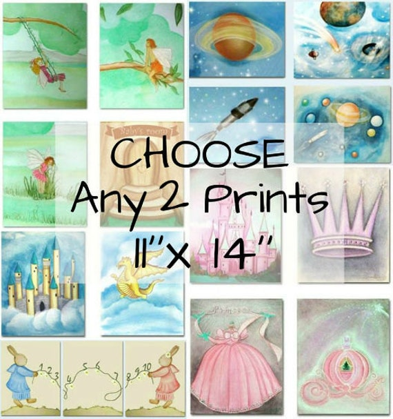 Make Your Own Wall Decor For Nursery : Make your own set of art prints x