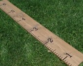 Giant Child's Measuring Stick, Growth Ruler, Wood Growth Chart, Rustic Wood Ruler, Family Growth Chart, Large Personalized Ruler, Ruler