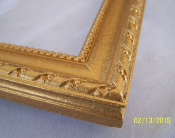 8x10 Picture Frame ~ Ornate design with Rope and Bead ~ Hand Painted Gold Mine Metallic Accent Finish ~ 1 1/8 in Wide ~ Made to Order
