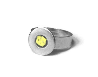 Adjustable Ring Womens Stainless Steel, Customizable, Resin Jewelry, Simple Modern Ring