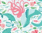 1 yard of the Coral Queen of the Sea Fabric by Stacy Iest Hsu