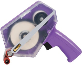 """PURPLE  ATG Tape Applicator set  by 3M SCOTCH - 1/2"""" & 1/4"""" wide Tapes !! TRANSFeR TaPE Gun - for Scrapbooking and Cards"""