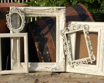 Shabby Chic - Wedding - Picture Frames - Distressed - 8x10 5x7 4x6