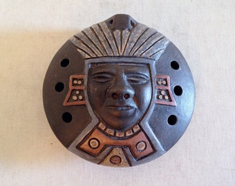 Ethnic Tribal Clay Whistle from Chile Latin American Folk Art