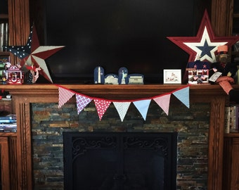Fabric banner, shabby chic fabric banner, fabric bunting, fabric garland, photo prop banner, photo prop, banner, garland, bunting