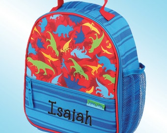 Lunchbox - Personalized and Embroidered - Fully Insulated - All Over Print - DINOSAURS