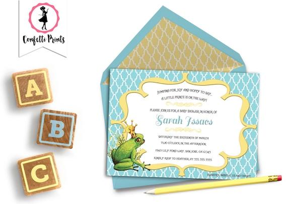 Prince Baby Shower Invitation | Prince Shower Invitation | Little Prince Shower | Royal Baby Shower Invitation - FROG PRINCE | Printable
