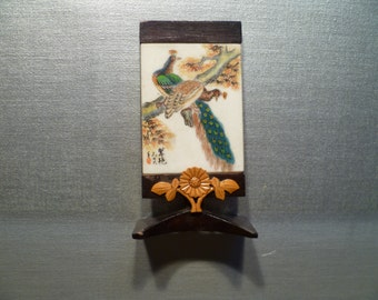 Vintage Standing Plaque Ornate Decoration Asian Oriental